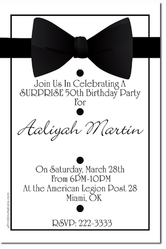 bowtie invitations  tuxedo invitations  candy wrappers