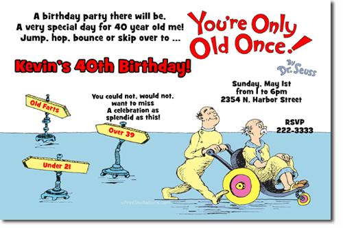 Uprintinvitations Over The Hill Birthday Invitations Candy