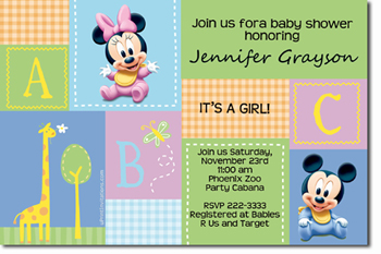 Click To Create This Invitation. Mickey And Minnie Baby Shower Invitations