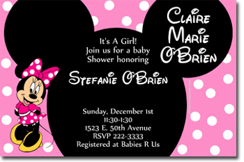 Exceptional Minnie Mouse Passion Baby Shower Invitations Click To Create · Click To  Create This Invitation
