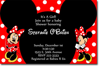 Minnie Mouse Ears Baby Shower Invitations Click To Create · Click To Create  This Invitation