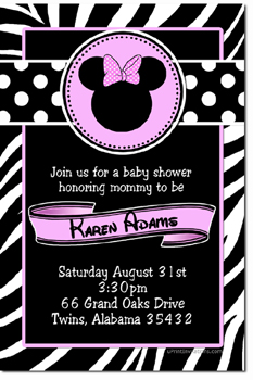 Baby shower invitations design your own baby shower cards do it minnie mouse baby shower invitations click to create click to create this invitation filmwisefo
