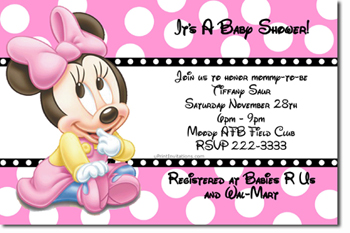 Baby shower invitations design your own baby shower cards do it click to create this invitation mickey and minnie baby shower invitations any color scheme filmwisefo