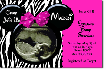 Baby shower invitations design your own baby shower cards do it click to create click to create this invitation minnie mouse zebra baby shower invitations all colors available filmwisefo Image collections