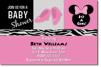 Click To Create This Invitation Minnie Mouse Baby Shower Invitations