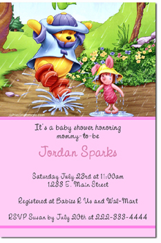 Click To Create · Click To Create This Invitation. Winnie The Pooh Rainy  Day Babyshower Invitations