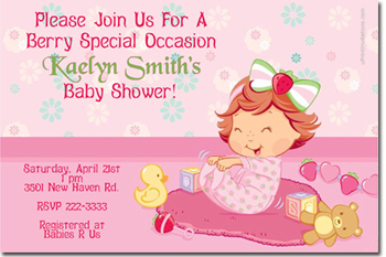 strawberry shortcake birthday invitations candy wrappers thank you