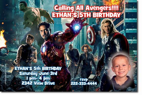 Avengers birthday invitations super hero birthday invitations click to create this invitation stopboris Images