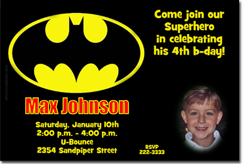 Batman birthday invitations super hero birthday invitations candy click to create this invitation stopboris Choice Image