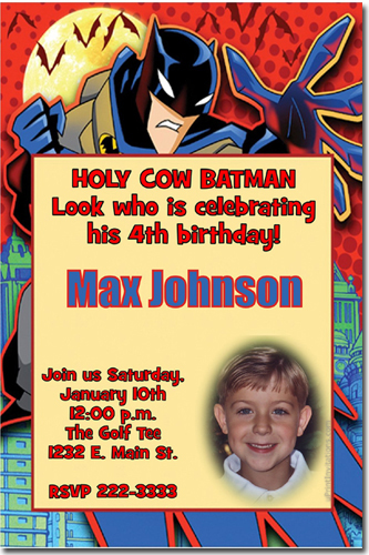 Batman birthday invitations super hero birthday invitations candy click to create this invitation filmwisefo Choice Image
