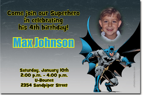 Batman Birthday Invitations Super Hero Birthday Invitations