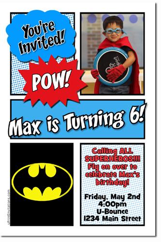 batman birthday invitations super hero birthday invitations candy