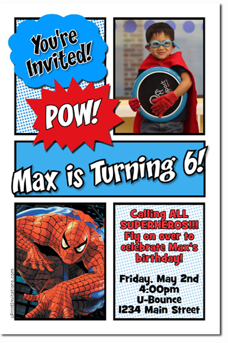 Spiderman birthday invitations super hero birthday invitations click to create this invitation solutioingenieria Gallery