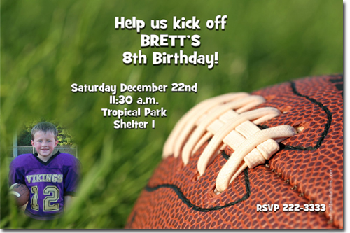 football birthday invitations, nfl football ticket birthday, Birthday invitations