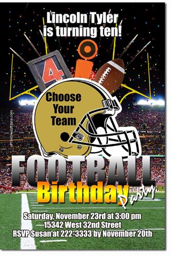 Football birthday invitations nfl football ticket birthday click to create this invitation filmwisefo