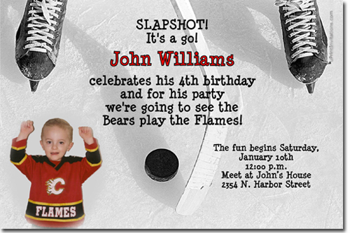 Hockey Birthday Invitations Ice Skating Birthday Invitations Candy