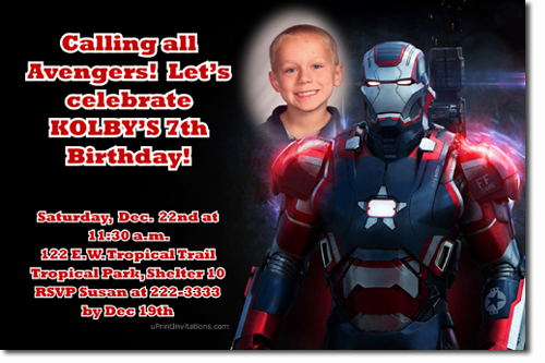 Iron man birthday invitations super hero birthday invitations click to create this invitation filmwisefo
