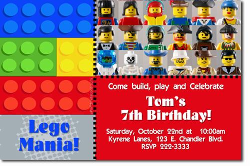 Lego Birthday Invitations, Chima Birthday Invitations, Ninjago Lego ...