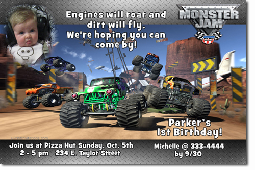 Monster truck birthday invitations grave digger birthday click to create this invitation filmwisefo