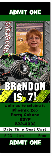 Monster Truck Birthday Invitations Grave Digger Birthday