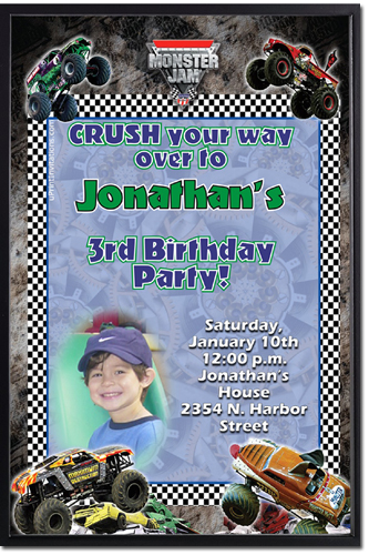 Monster truck birthday invitations grave digger birthday click to create this invitation filmwisefo Gallery