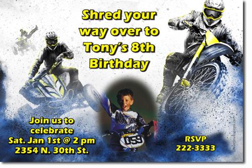 bmx birthday invitations  motorcross birthday invitations  atv birthday invitations  candy