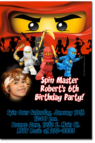 Lego Birthday Invitations Chima