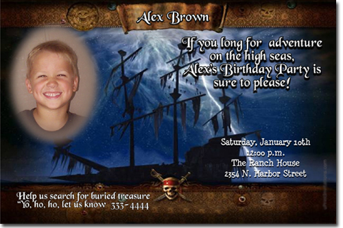 pirates of the caribbean birthday invitations candy wrappers thank