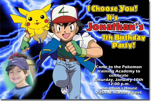 Click To Create This Invitation Pokemon Birthday Invitations