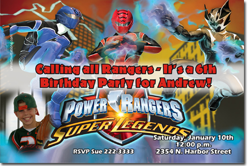 Power Rangers Dino Charge Birthday Invitations Candy Wrappers - Power rangers birthday invitation template