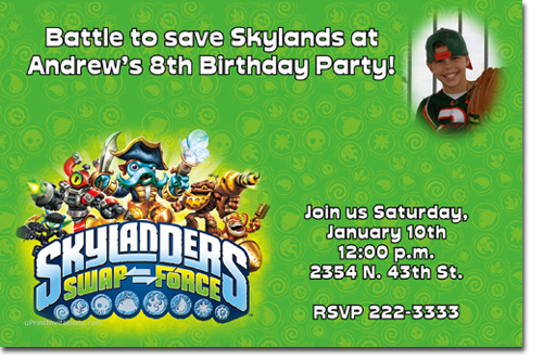 Skylanders spyros adventure birthday invitations candy wrappers click to create this invitation filmwisefo