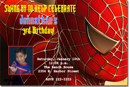 Spiderman birthday invitations super hero birthday invitations click to create this invitation stopboris Choice Image
