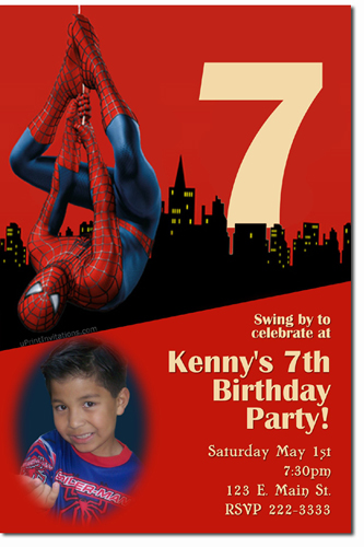 Spiderman Birthday Invitations Super Hero Birthday