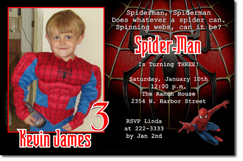 Spiderman Birthday Invitations Super Hero Birthday Invitations