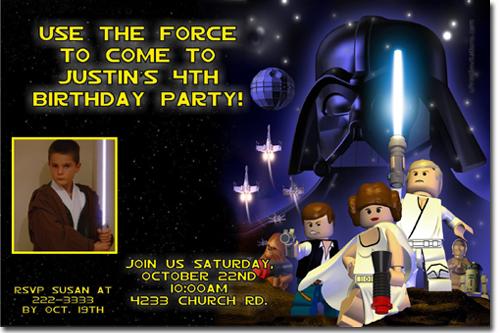 Star Wars Birthday Invitations Star Wars Lego Birthday – Lego Star Wars Birthday Invitations