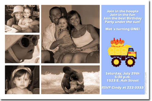 Tonka Truck Birthday Invitations Construction Birthday – Tonka Birthday Invitations