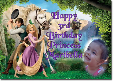 Tangled Birthday Cake on Rapunzel Birthday Invitations  Tangled Birthday Invitations  Candy