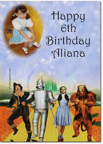 Wizard of oz birthday invitations candy wrappers thank you cards click to create this cake image bookmarktalkfo Images