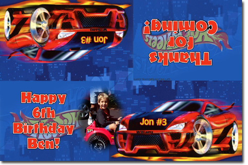 hot wheels birthday invitations, candy wrappers, thank you cards, Invitation templates