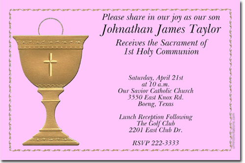 Communion invitations candy wrappers thank you cards candy bag labels click to create this invitation solutioingenieria Image collections