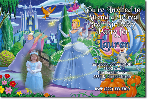 cinderella birthday invitations and party favors, Birthday invitations