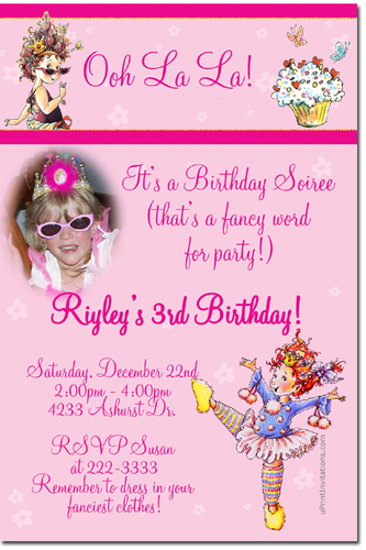 fancy birthday invitation