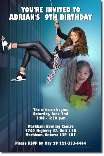 Kc undercover spy ops birthday invitations candy wrappers thank you
