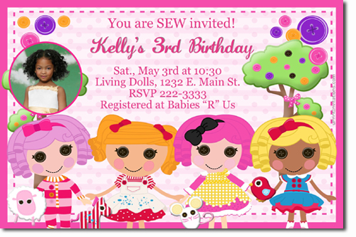 Lalaloopsy Sewing Birthday Invitations