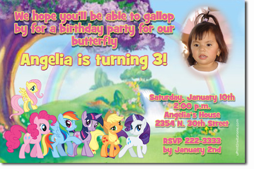 My Little Pony Birthday Invitations Candy Wrappers Thank You – My Little Pony Birthday Invites