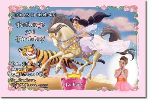 Aladdin Birthday Invitations Jasmine Birthday Invitations Candy – Princess Jasmine Birthday Invitations