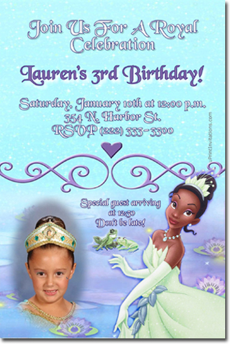 Princess and the frog birthday invitations princess tiana birthday click to create this invitation filmwisefo Images