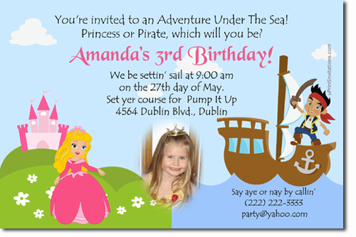 Sleeping Beauty Birthday Invitations, Candy Wrappers ...