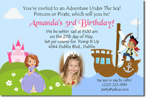 Sofia the first birthday invitations candy wrappers thank you click to create this invitation stopboris Image collections