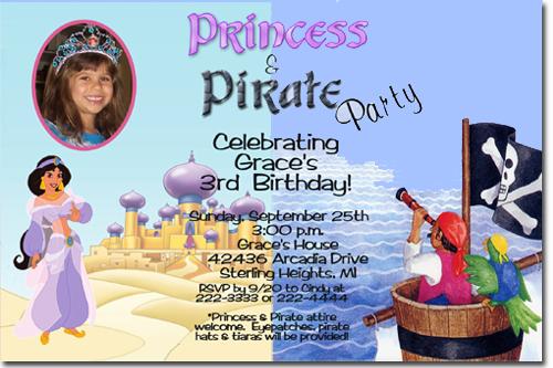 Aladdin Birthday Invitations Jasmine Candy